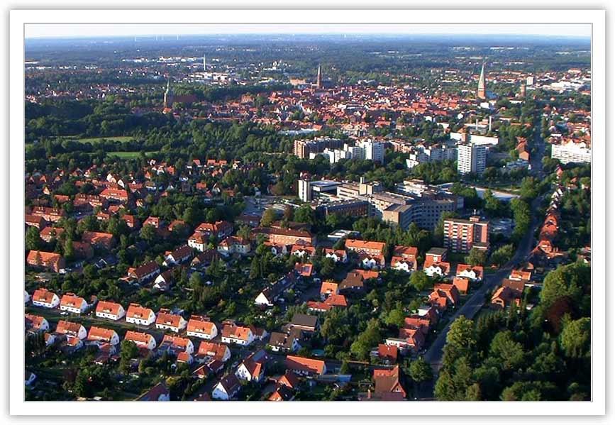 Ballonfahrt Lüneburg über die Altstadt