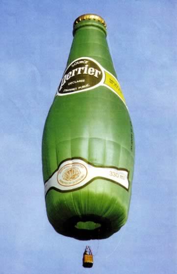 Ballonsonderformen - Perrier Flasche