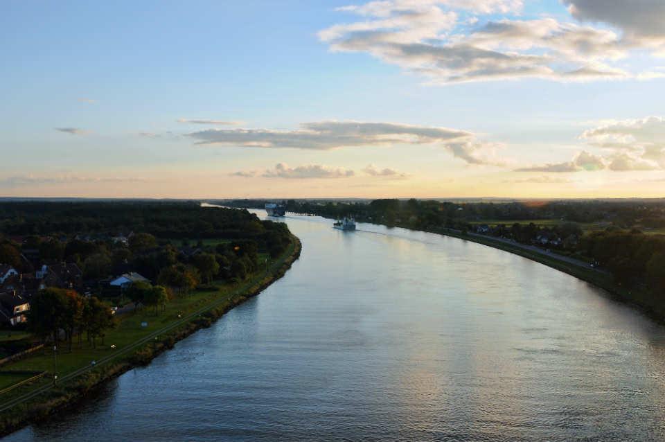 Ballonfahrten Rendsburg - über dem Nordostseekanal