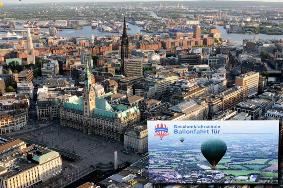 Geschenkfahrschein Ballonfahrt über Hamburg