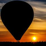ballonfahrt lueneburg - sonnenuntergang am wegesrand
