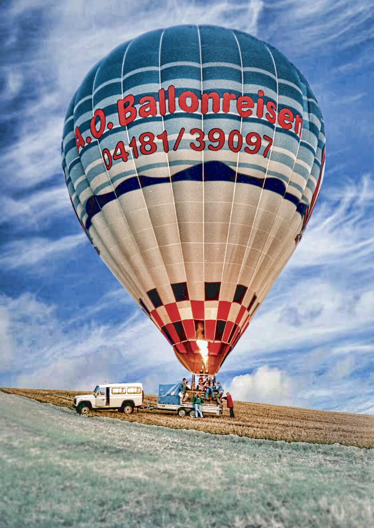 Glückwunschkarte von A.O. Ballonreisen