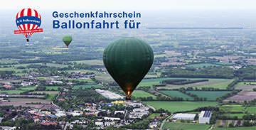 Geschenkfahrschein für Ballonfahrten
