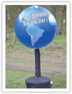 aufblasbare Globen