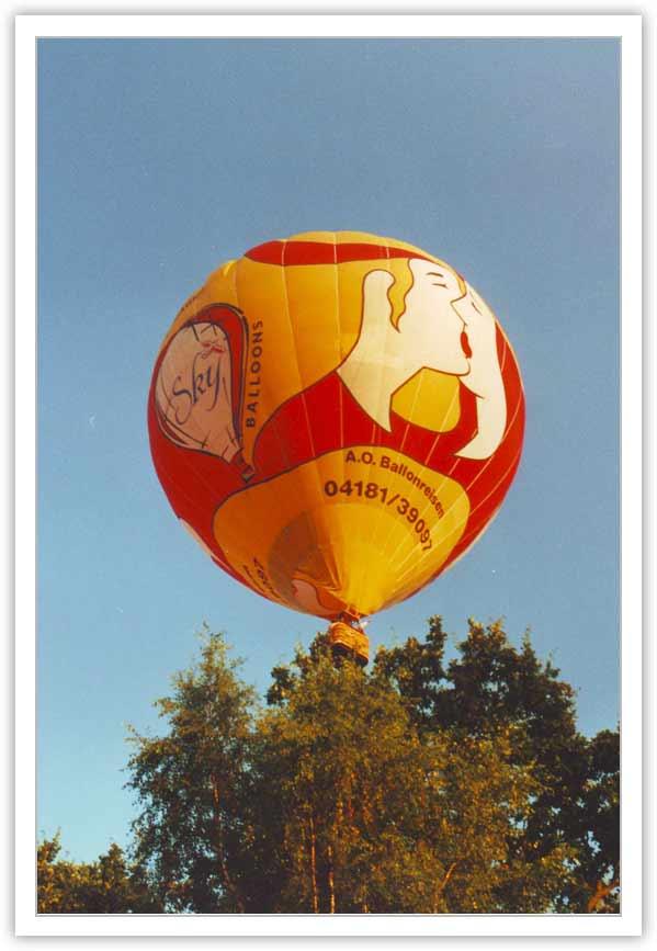 unser Kussballon für eine Ballonfahrt exklusiv für 2 Personen