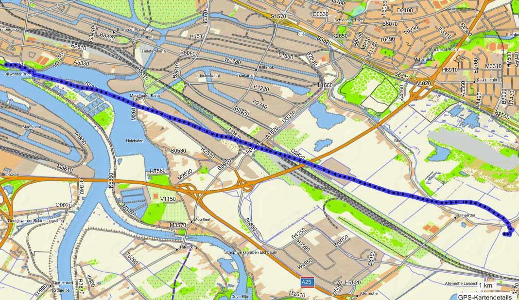 Ballonfahren von Hamburg-Rothenburgsort nach Billwerder