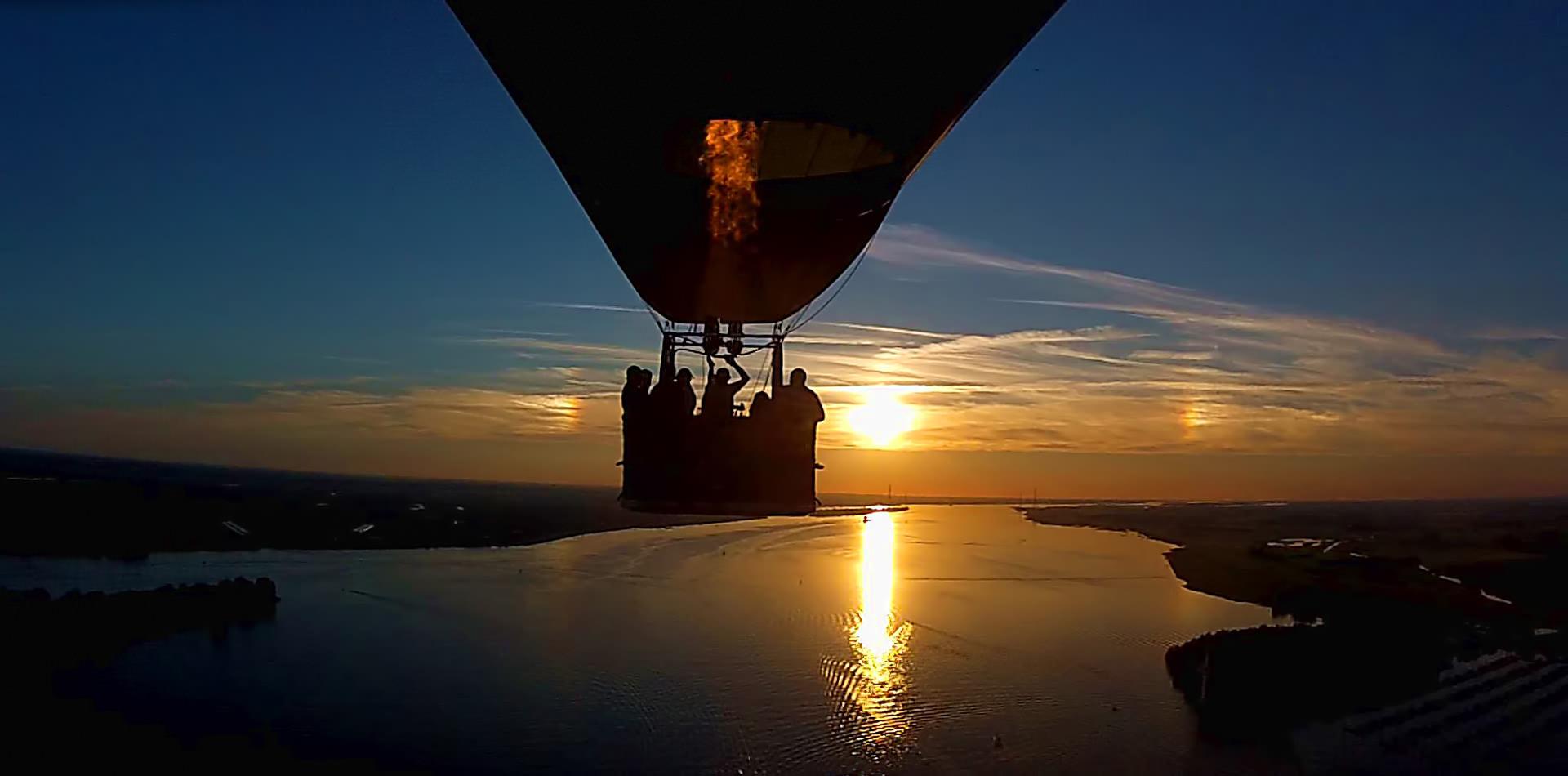 Ballonfahrt Hamburg von Entenwerder nach Grünendeich