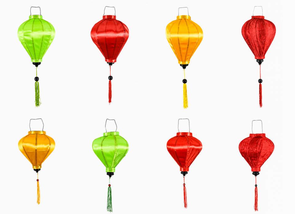 vietnamesische Seidenlampen