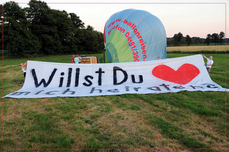 Ballonfahrt Norddeutschland - Heiratsantrag im Ballon