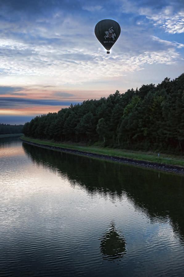Ballonfahrt am Elbe-Seitenkanal