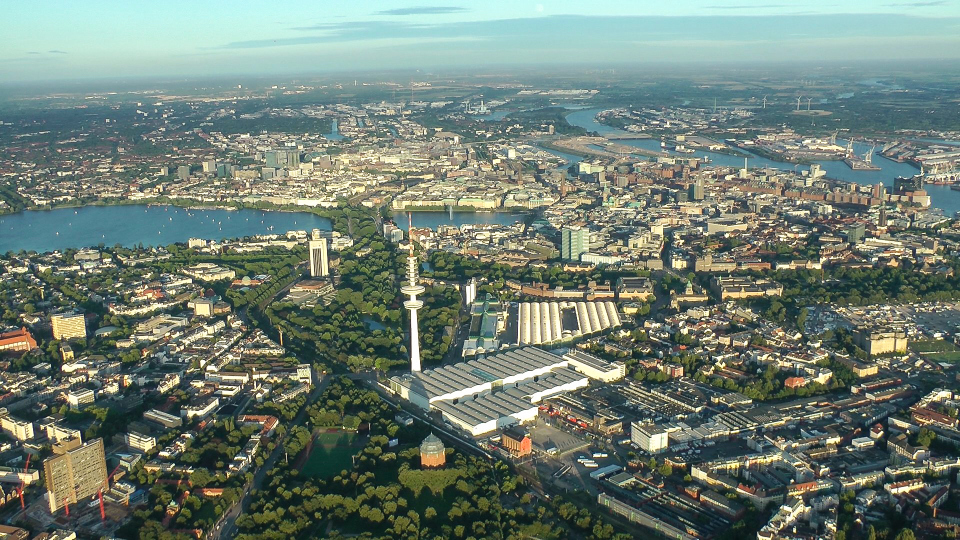 Ballonfahrt Hamburg-City ueber