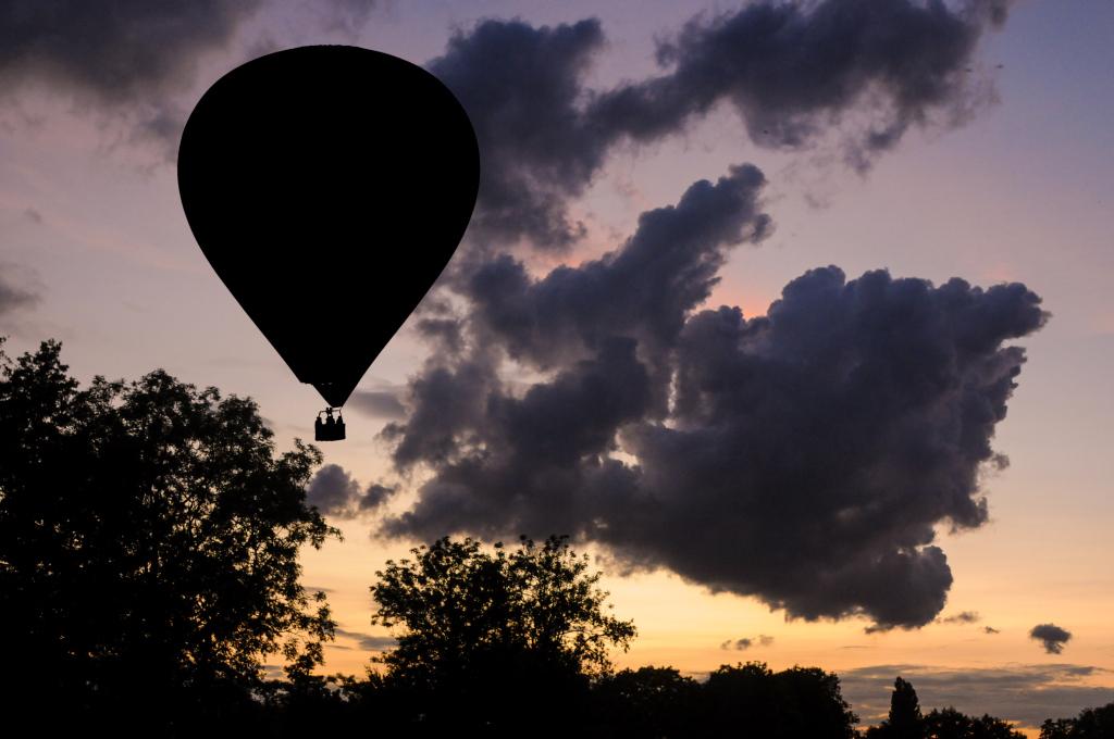 Ballonfahrt Hamburg - Landung mit Wolke